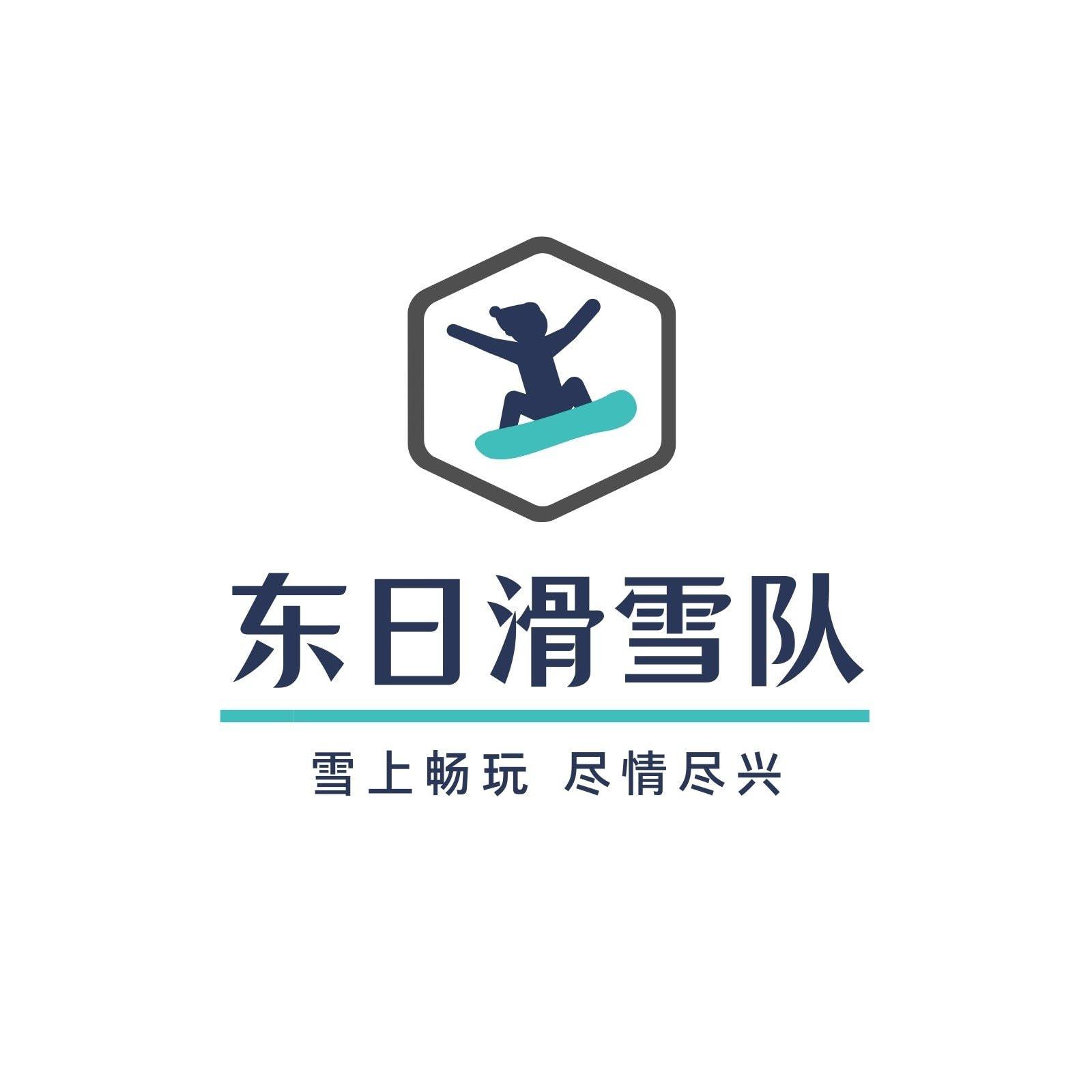 蓝色滑雪队队伍logo
