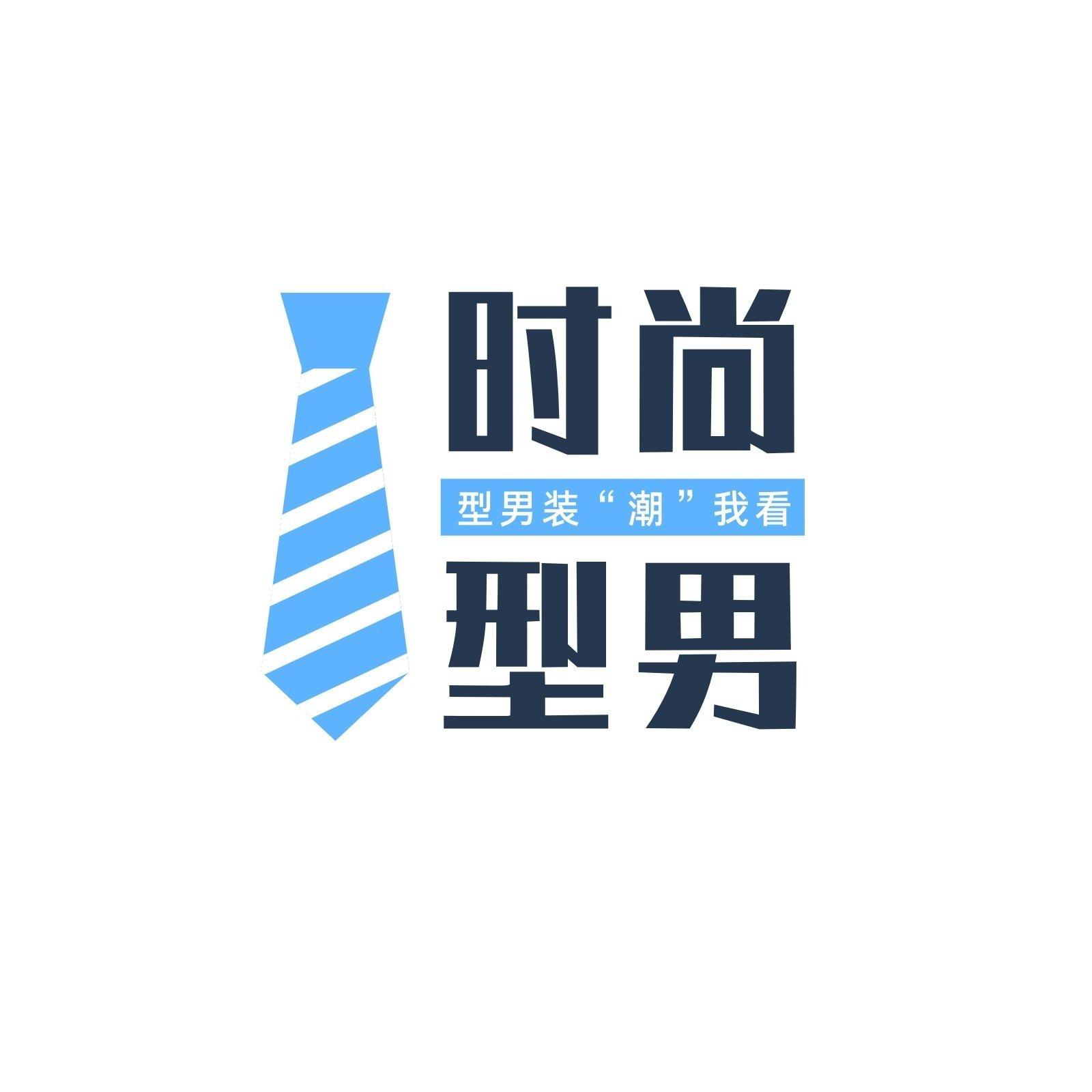 黑蓝色领带商务服饰宣传中文logo