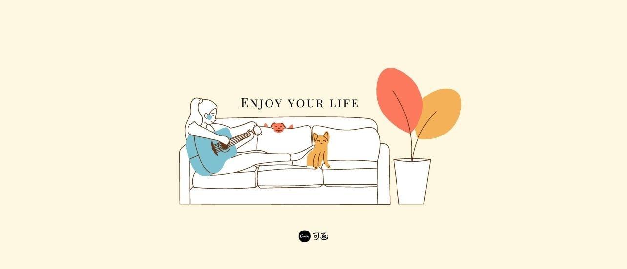文艺插画模板 | 抓住日常生活那些微小的幸福时刻