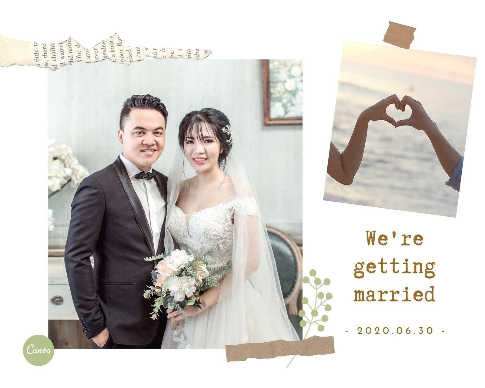 白色婚纱礼服爱心人物婚礼婚纱拼图